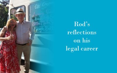 Rod Hughes reflects on his legal career